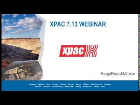 XPAC 7.13 Introduction Webinar: Mine Planning and Scheduling Software