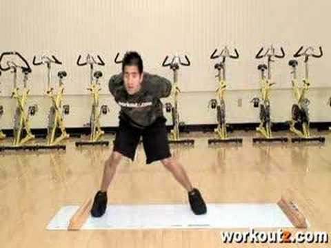 Workoutz - Slide Board Drills - Lateral Slides - YouTube