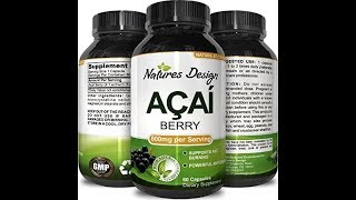 Acai Berry Concentrate Capsules – Antioxidant Dietary Supplement for Weight Management + Digestive