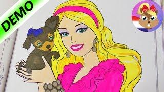 BARBIE Met Schattige PUPPY | Kleuren In Barbie Kleurboek | Speel Met Mij