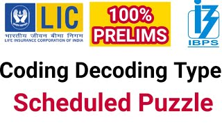 New Pattern Coding & scheduled puzzle fot  Po PRELIMS INSURANCE BASED