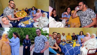 فطور 18 رمضان 🤔 مولود جديد في العائلة 😂  المرأة اللحلاحة غلبت السحارة 😉