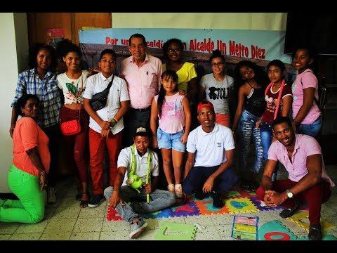 Jorge Quintana, candidato a la Alcaldía de Cartagena Un Metro Diez, a la altura de la niñez