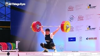 77kg All Lifts 2015 Junior World Championships with lots of fainting