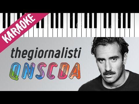 Thegiornalisti | Questa Nostra Stupida Canzone D'Amore // Piano Karaoke con Testo