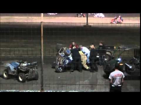 Ryann K. wreck at gulf coast speedway