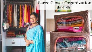 Saree Closet Organization - How To Organize Sarees, Suits, Lehengas (With English Subtitles)