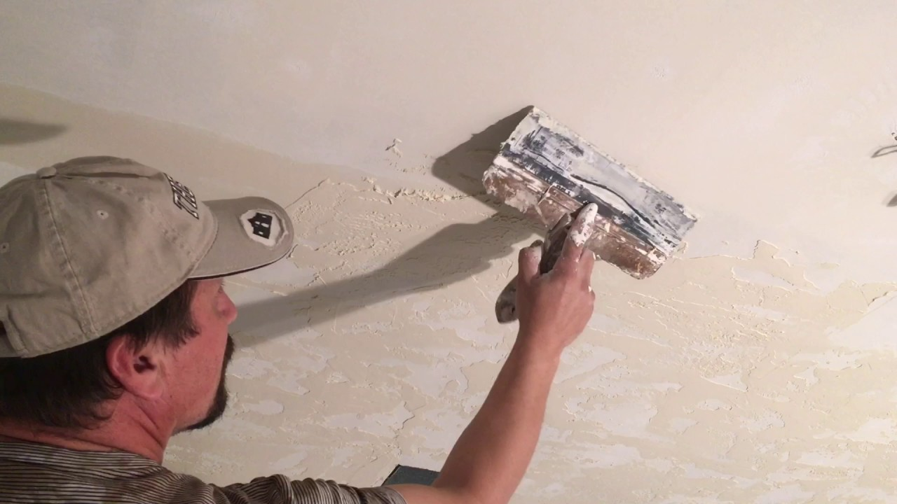 How To Apply Skip Trowel Texture Ceiling