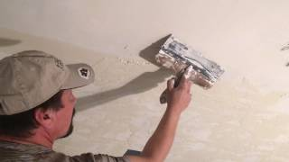 How To Apply Skip Trowel Texture to Ceiling