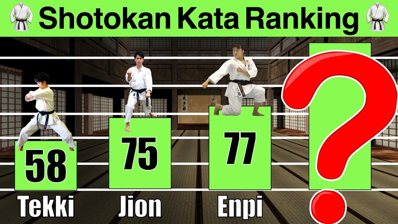 Japanese Karate Sensei Ranks TOP 10 SHOTOKAN KARATE KATA