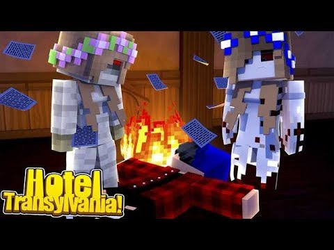 MURDER IN HOTEL TRANSYLVANIA w/Little Carly and Littl Kelly (Minecraft Roleplay).