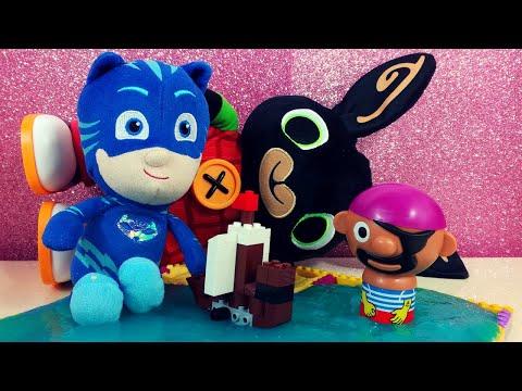 BING e GATTOBOY aiutano il pirata a costruire una nave con I LEGO LO SLIME e la SABBIA MAGICA
