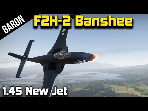 War Thunder Jet Gameplay - F2H-2 Banshee, New American Jet in Realistic Battles!