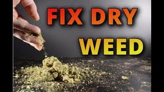 how to make dry weed sticky