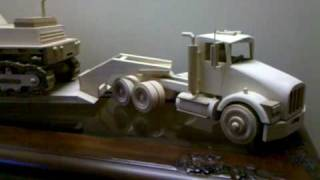 Hand-made Track-hoe And Tractor Trailer.