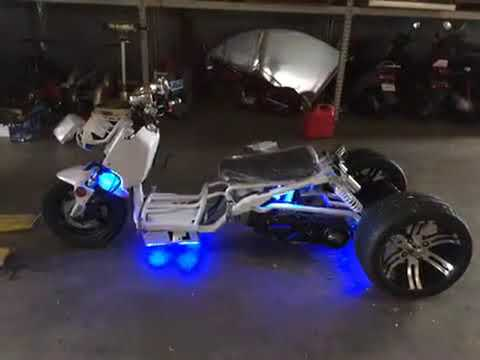 Extreme Motor Sales 150cc trike 3 Wheel Scooter Ruckus Clone - YouTube