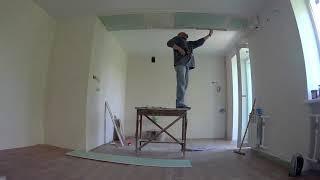 Ремонт квартиры. Гипсокартонные работы (потолок).ч2