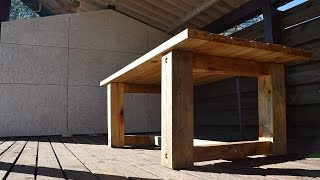 видео Деревянный стол своими руками