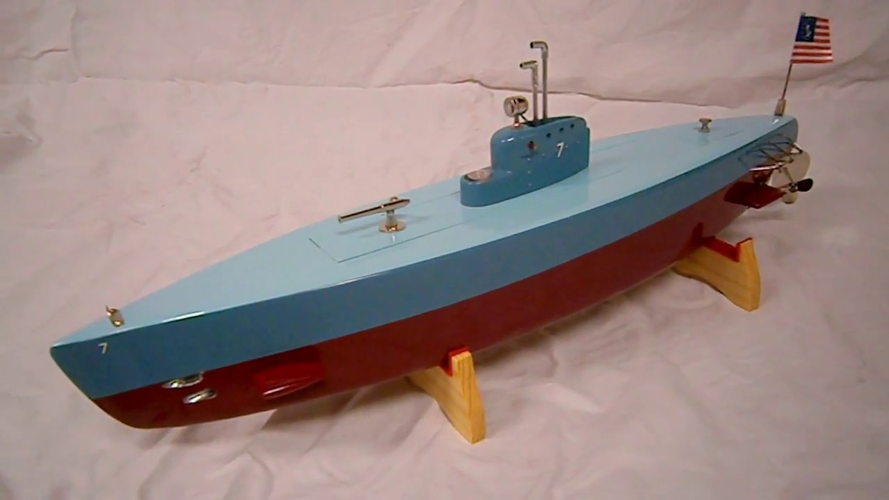 ITO 18in wood toy submarine by R-C CRAFT , tmy, kmk, imp ...