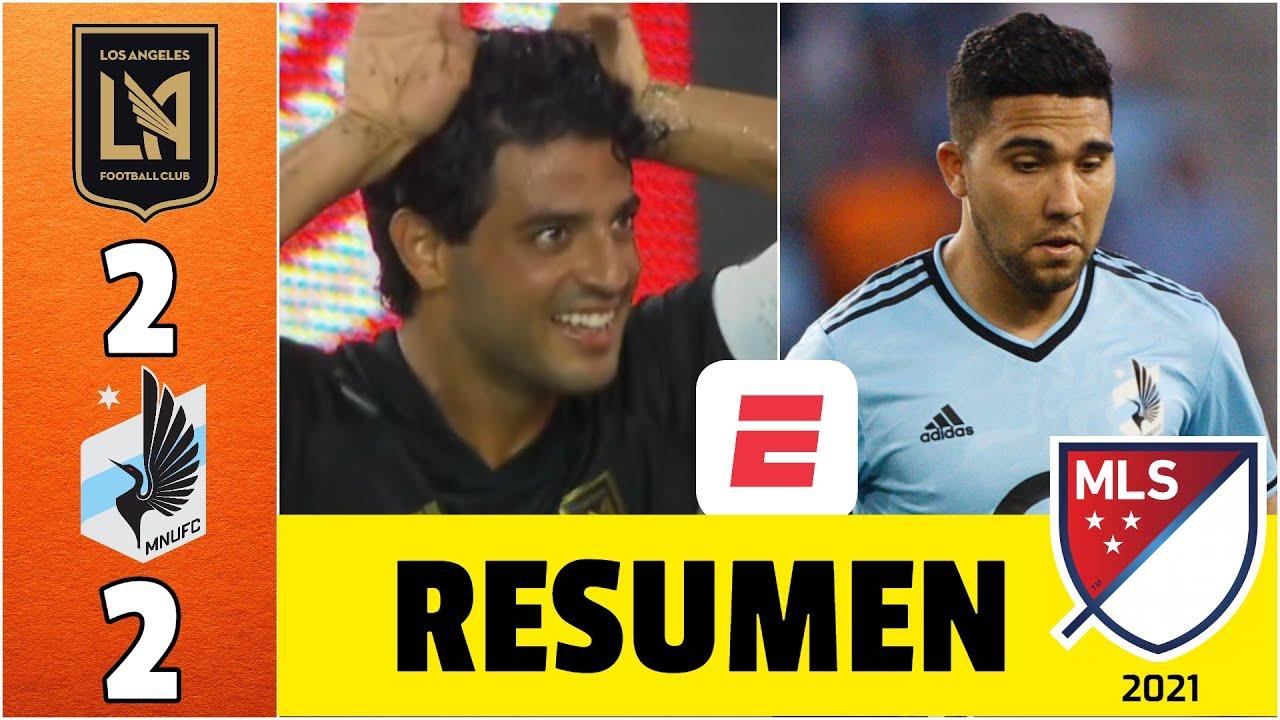LAFC 2-2 Minnesota United. Carlos Vela, ENCENDIDO. Cuarto partido seguido con gol del mexicano   MLS