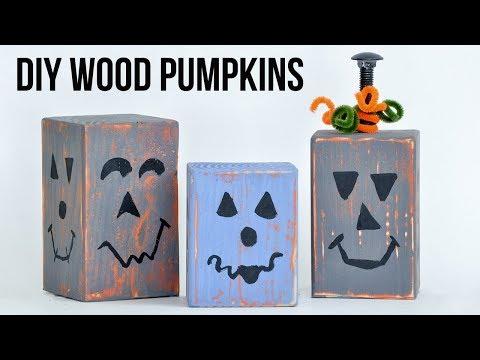 How To Make Wooden Pumpkins Using Scrap Wood