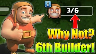 Why Clash of Clans Not Give Us 6th Builder? | What Is The Reason? | Let's Find Out