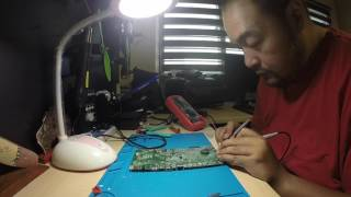 vj's dell 3043 motherboard repair in real time