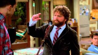 the complete two and a half men scene due date zach galifianakis