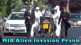 'Men In Black' Alien Invasion Prank