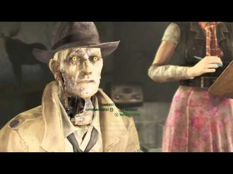 "Fallout 4 - Getting A Clue: Nick Valentine, Ellie Perkins Interviews Survivor Dialogue ""Kellogg"""