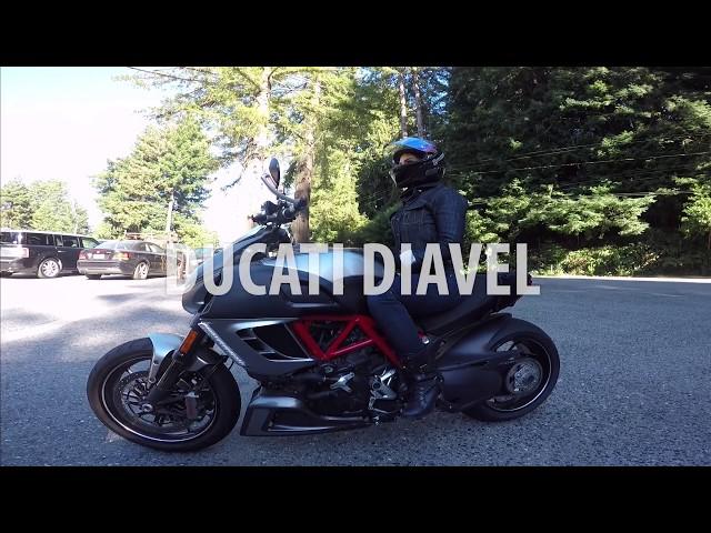 Girl Rides Ducati Diavel in Northern California