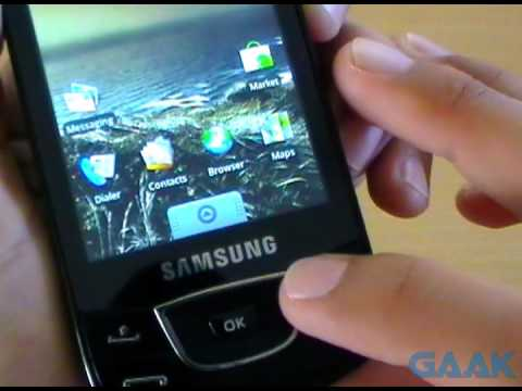 Samsung Galaxy i7500 Android 1.6 Donut unboxing - Gaak
