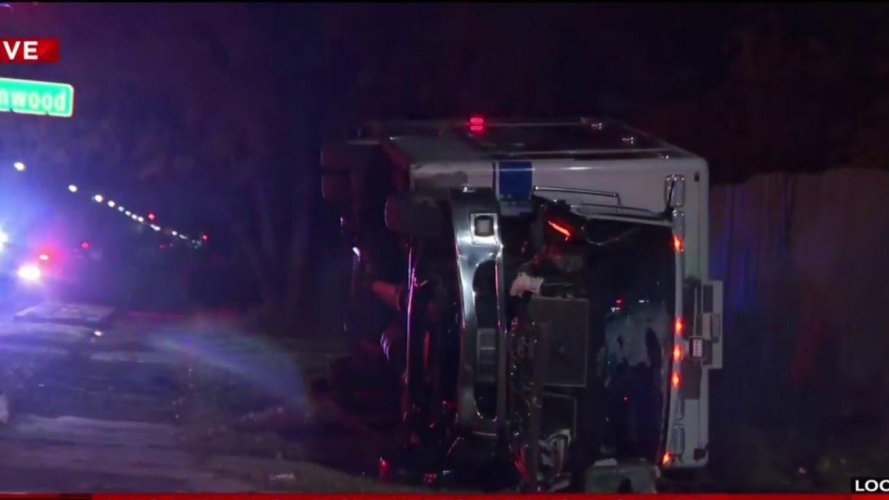 Violent crash involving police
