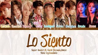 Download Video Super Junior (슈퍼주니어) - Lo Siento (Feat. KARD) [Color Coded Lyrics] Han|Rom|Eng MP3 3GP MP4