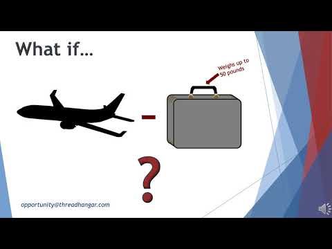 The future of air travel is baggage-free.