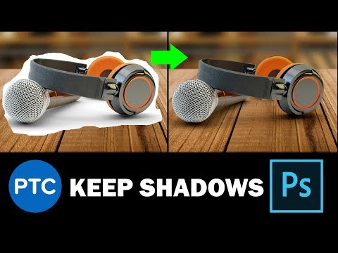 Photoshop: How To Cut Out Backgrounds And KEEP The Original Shadows