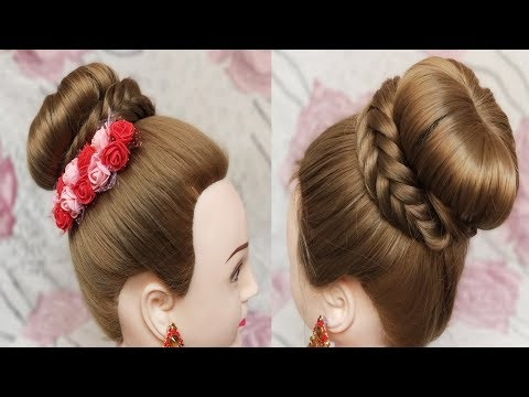 Awesome Juda Hairstyle With Fishtail Braid Easy Wedding