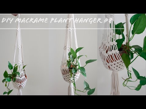 how-to-make-a-macrame-plant-hanger-without-ring-#8-super-easy-for-beginners-diy-tutorial