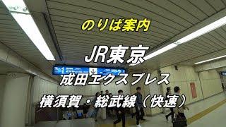 JR東京駅「丸の内中央改札」から「横須賀・総武線(快速)・成田エクスプレス」のりば案内