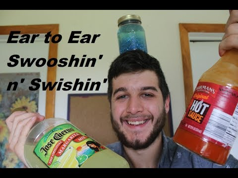 ASMR Great Ear To Ear Liquid Sounds Spicy Sauce + Water