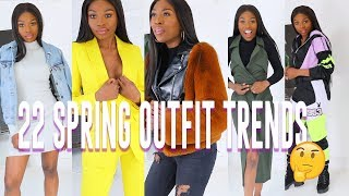 TRYING 22 SPRING OUTFITS TRENDS ARE WE TIRED OF THESE LOOKS YET?? ZARA, NEON, TRACKSUITS, FAUX FUR??