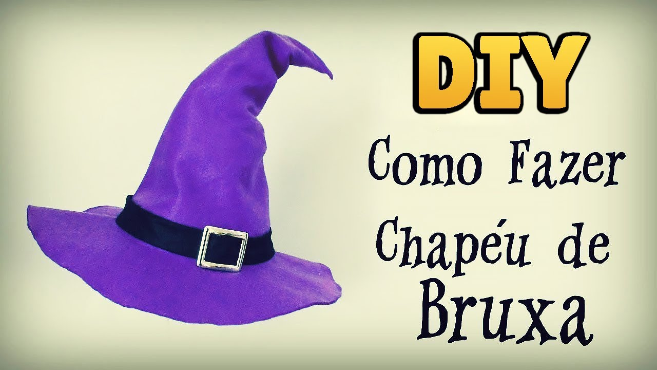 DIY  HOW TO DO MAKE A WITCH HAT 🎃 - HALLOWEEN COSTUME CRAFT  diyhalloween 1897c1f3025