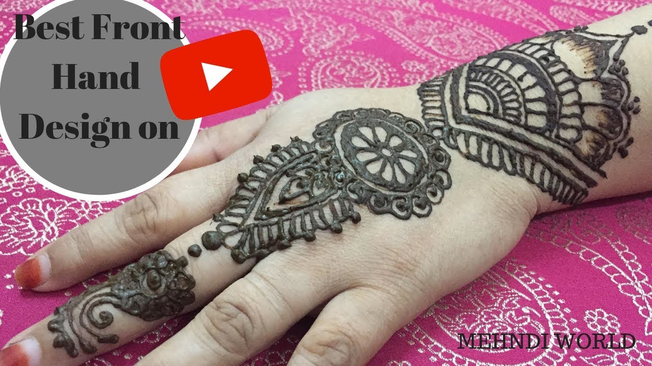 73bfa3333e739 Diwali special mehndi designs 2018|How to apply easy henna mehndi design  |मेहँदी डिजाईन |MehndiWorld