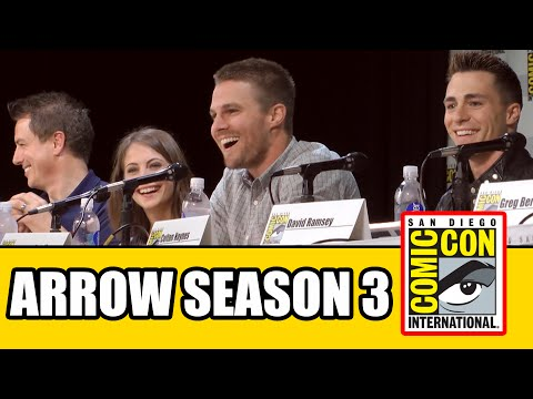 Arrow Season 3 Comic Con Panel 2014 - Part 1