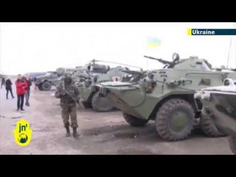 Russian separatists capture Ukrainian armored troop carriers as East Ukraine unrest escalates