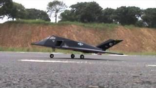 RC F-117 70mm EDF Jet Maiden Flight