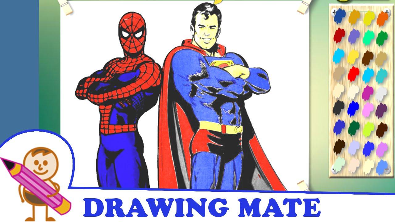 batman spiderman superman coloring pages - photo#37