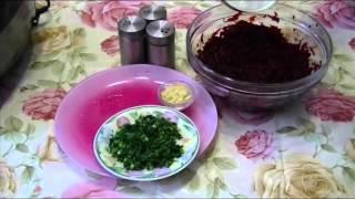 Домашние видео рецепты - салат из свеклы в мультиварке