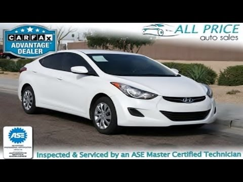 Used Cars For Sale in Phoenix,Az-2012 Hyundai Elantra- ALL Price Auto Sales LLC.