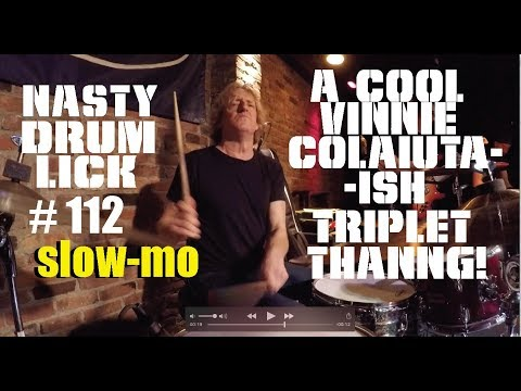 Drum Lesson: Nasty Lick 112 in SLO MO - A...